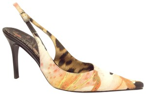 Roberto Cavalli Black Pastel Peach Pumps