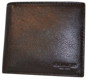 Coach New Coach Men's Coin Mahogany Brown Calf Leather Sport Wallet F75003 N