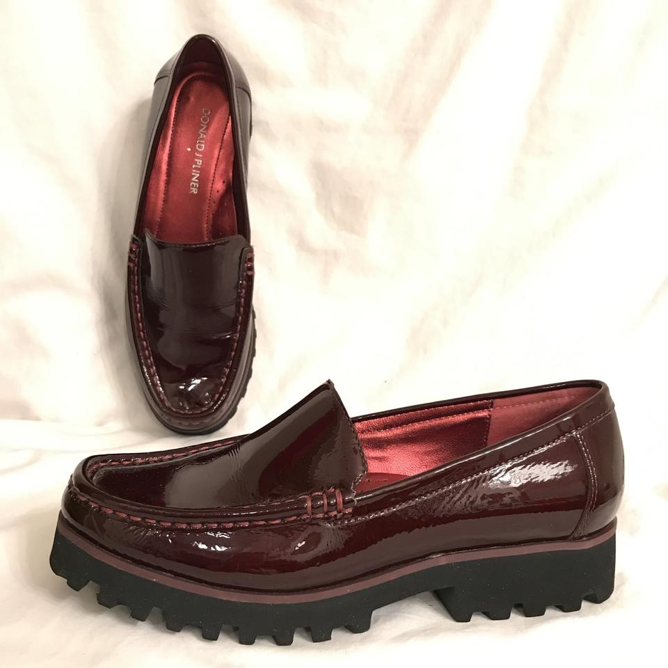 be8e90ceddb Donald J. Pliner Loafers Patent Leather Moccasins Leather Slip Ons Red  Burgundy Flats Image 0 ...