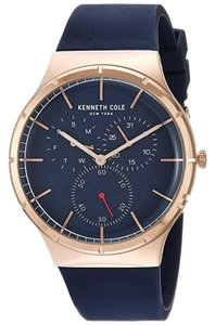 Kenneth Cole KC50057001 Men's Blue Silicone Band With Blue Analog Dial Watch