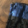 Forever 21 Blue and Black Sequin Shorts Size 4 (S, 27) Forever 21 Blue and Black Sequin Shorts Size 4 (S, 27) Image 4