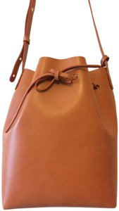 Mansur Gavriel Leather Crossbody Bucket Shoulder Bag