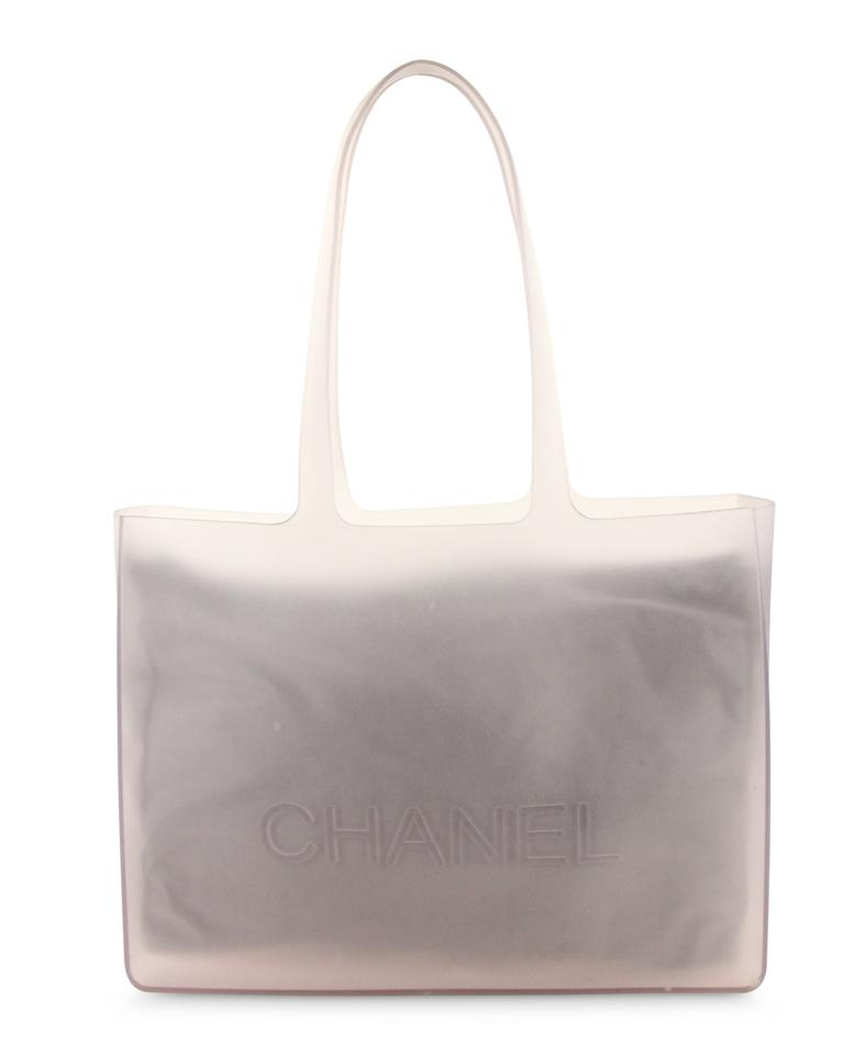 e77d309a0f6 Chanel Jelly Rubber Tote in Grey Image 0 ...