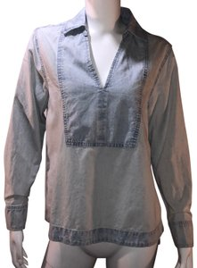 The Great. Chambray Denim Tunic