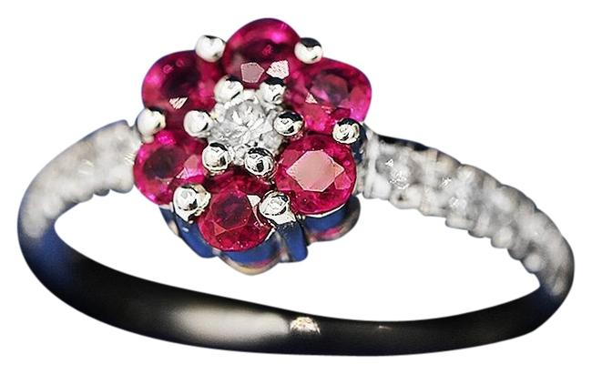 Unbranded White and Pink Elegant Sapphires Ring Unbranded White and Pink Elegant Sapphires Ring Image 1