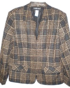 Sag Harbor Tweed Full Zip Lined Multi-Color Blazer