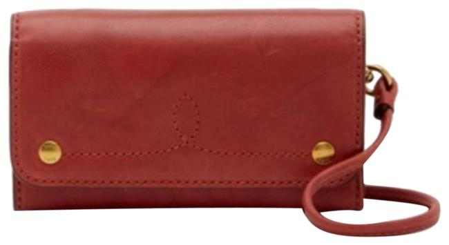 Item - Burnt Red Crossbody New Campus Rivet Leather Phone Wallet
