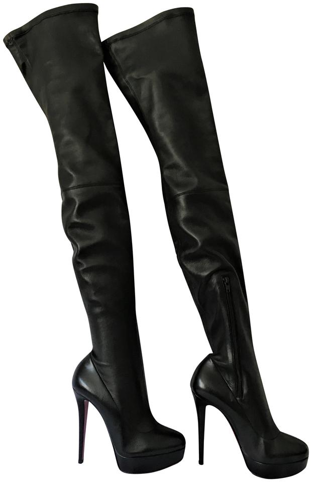 0591d928013 ... Christian Louboutin Thigh High Over The Knee Black Boots .
