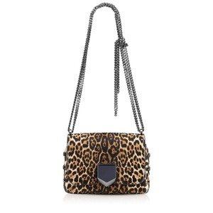 Jimmy Choo Leopard Print Pony Shoulder Bag