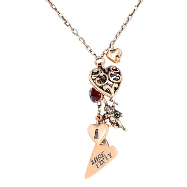 """Item - Bronze """"Ciondolo"""" Collection Angel and Heart Ladies Necklace"""