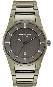 Kenneth Cole KC15103013 Mens Gold Steel Bracelet With Grey Analog Dial Watch