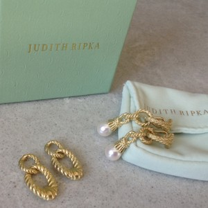 Judith Ripka Cultured Pearl and Status Link Interchangeable Earrings