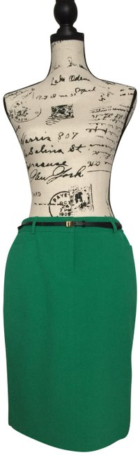 Item - Green Business Skirt Suit Size Petite 6 (S)