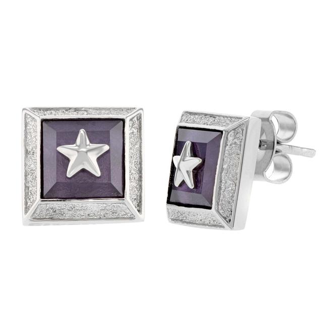 Item - Purple Rock Star Stud Ladies Earrings