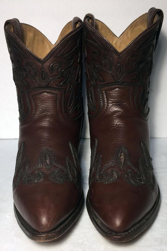 Women Cowgirl Booties Wyatt Boots Brown 76042 Leather Short Frye TYBPaqwn