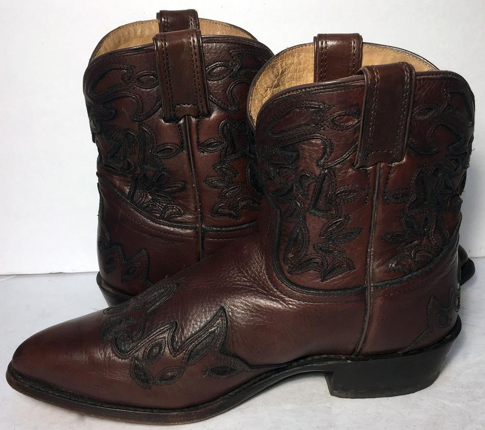 Boots Wyatt Short Brown Cowgirl Leather Women 76042 Booties Frye g0qFOx