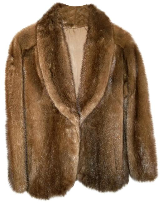 Item - Brown Mink Jacket with Silk Lining Coat Size 10 (M)