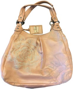 Coach Leather Embroidered Floral Hobo Bag