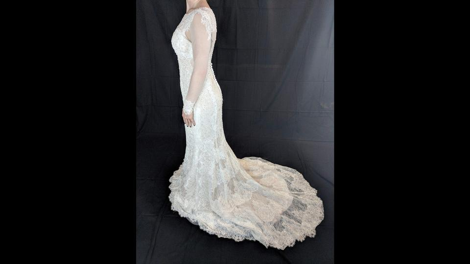 Oleg Cassini Lace Wedding Dresses Creme