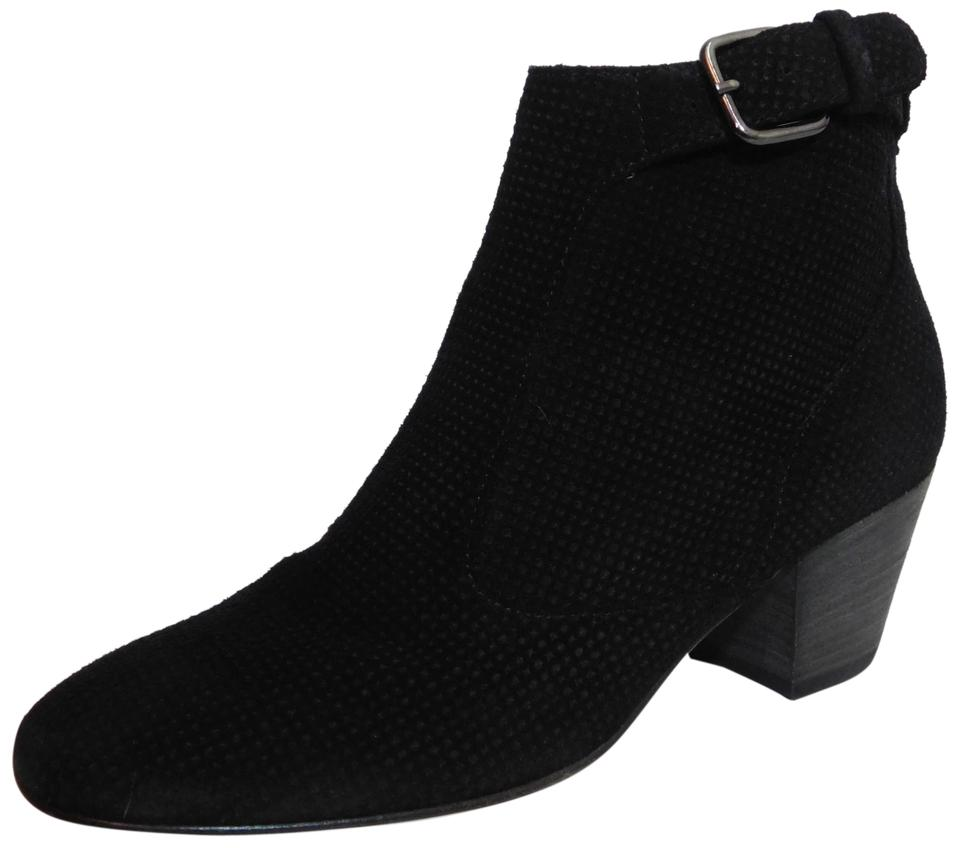 Aquatalia Black Boots/Booties New Suede France Ankle Boots/Booties Black d7cb42