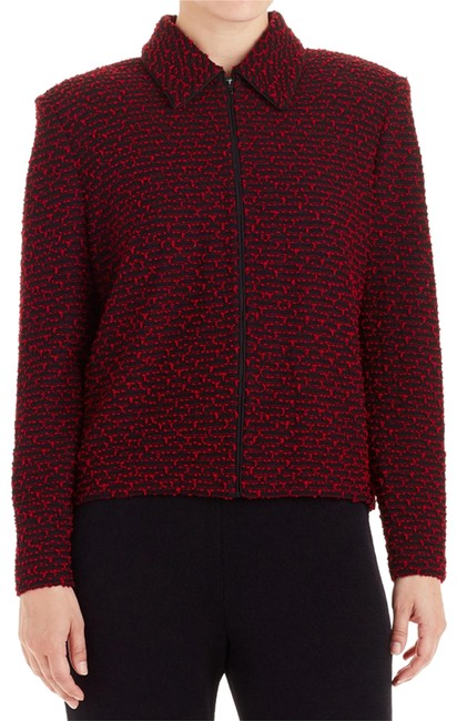 Preload https://img-static.tradesy.com/item/23576640/st-john-red-black-collection-and-novelty-knit-zip-front-6-75691-spring-jacket-size-6-s-0-1-650-650.jpg
