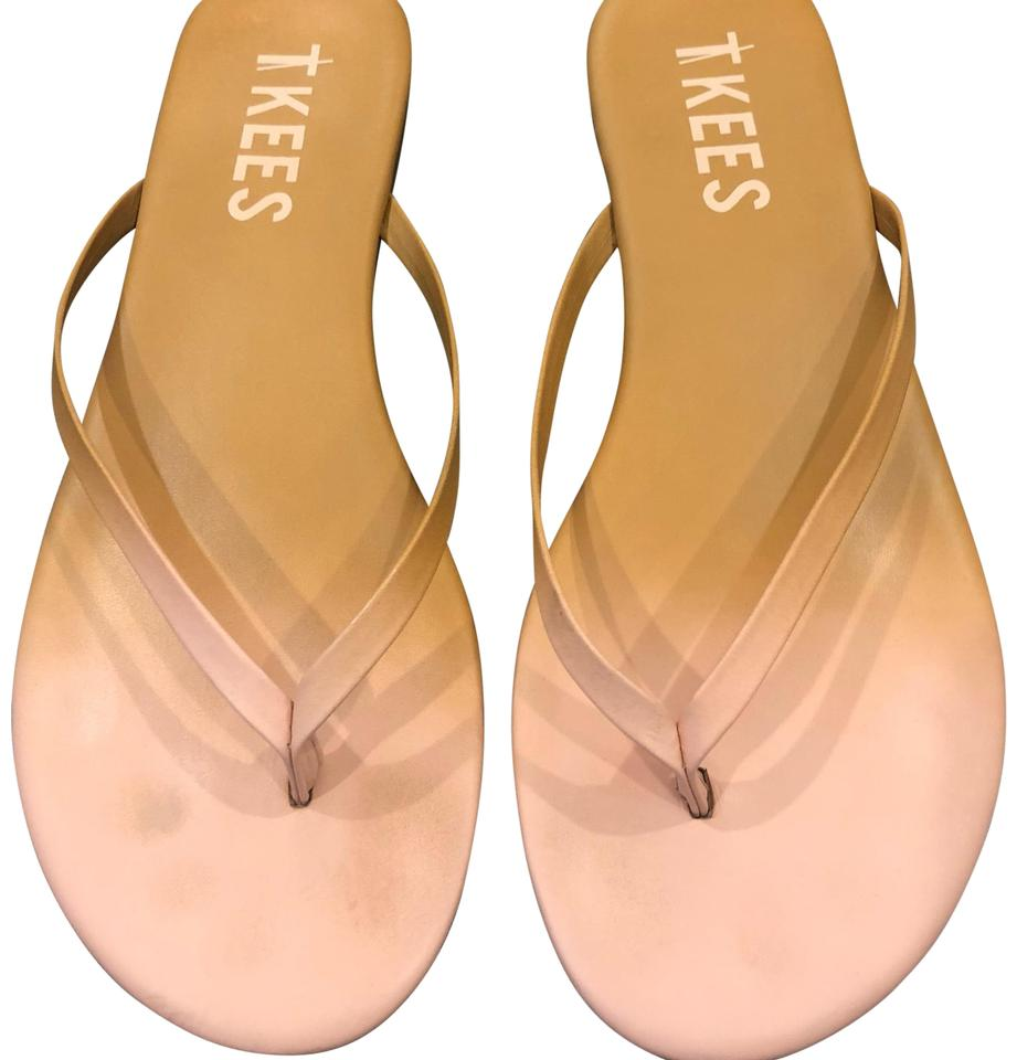 d0fa8a53e79 TKEES Blush and Tan Flip Flops Sandals Size US 8 Regular (M