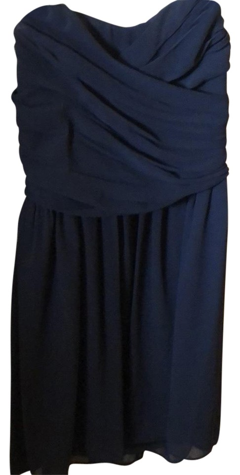 In San Francisco Navy Blue 1123w55 Short Cocktail Dress Size 4 S