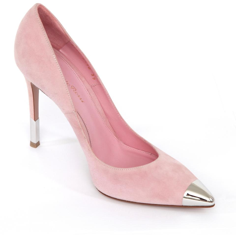 7cedf11a211f Gianvito Rossi Pink Suede D orsay Pointed Toe Leather Silver 39 Pumps. Size   EU 38 ...
