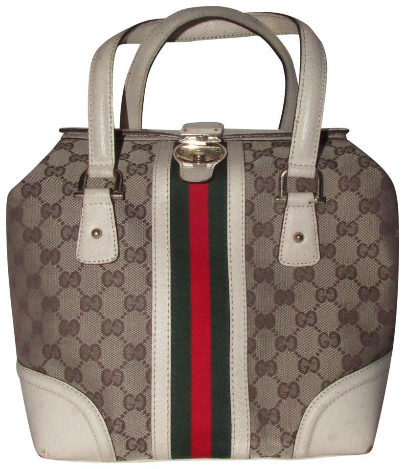 91fe501a6 Gucci Rare Style Mint Condition Boston Treasure Gg Sherry Line Xl Size  Satchel in brown large ...