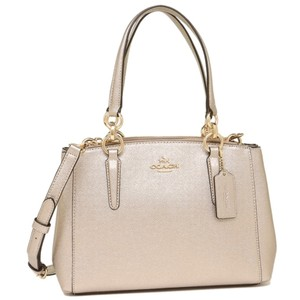 Coach Metallic Double Zip Convertible Adjustable F23337 Satchel in Gold