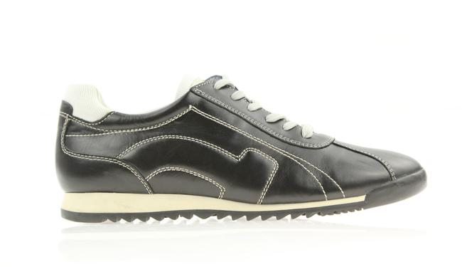Item - Black Leather Lace Up Sneakers Size US 9 Narrow (Aa, N)