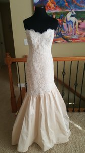 Paloma Blanca Blush 4450 Formal Wedding Dress Size 12 (L)