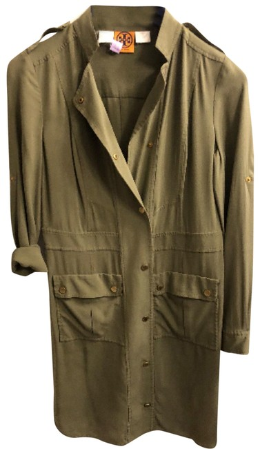 Item - Olive Green Cargo Mid-length Short Casual Dress Size 6 (S)