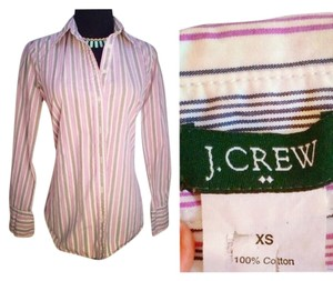 J.Crew Cotton Button Down Shirt Purple/Lavender and Charcoal Pinstripe Button Down