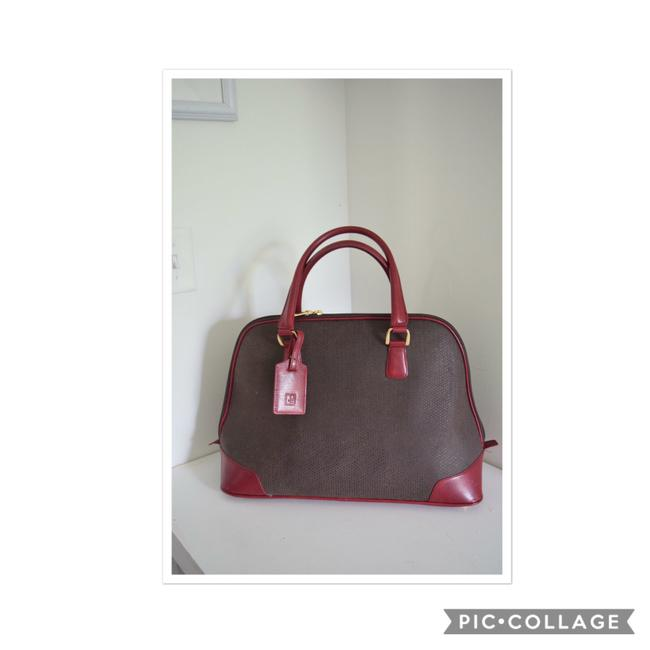 Item - Large Satchel.travel Brown & Red Suede Leather Satchel