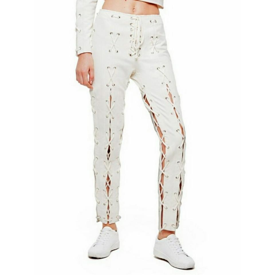 c66e327e310 Daya by Zendaya Ivory Lace-up Sweatpant Leggings Size 0 (XS
