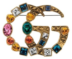 Gucci Gucci Crystal Double G brooch Style ‎515149 I7486 8512