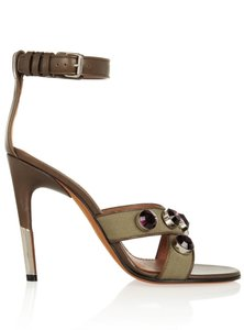 Givenchy Alejandro Ingelmo Pump High Heel Lace Up Green Sandals