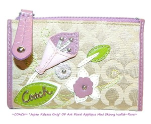 Coach ~JAPAN Release~COACH OP Art Floral Applq Mini Skinny*Never Sold in USA