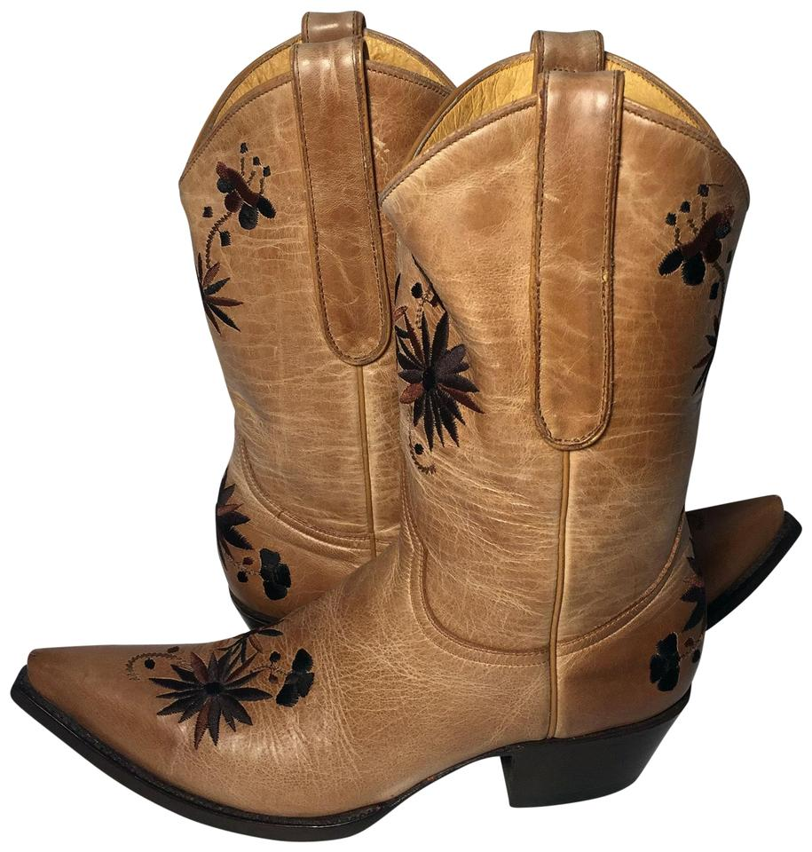 Old Cowboy Gringo Brown Leather Cowgirl Cowboy Old Western Women's Boots/Booties 7cf9ce