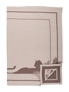 Cartier Cartier Paris Cashmere Blend Taupe and Brown Throw Blanket