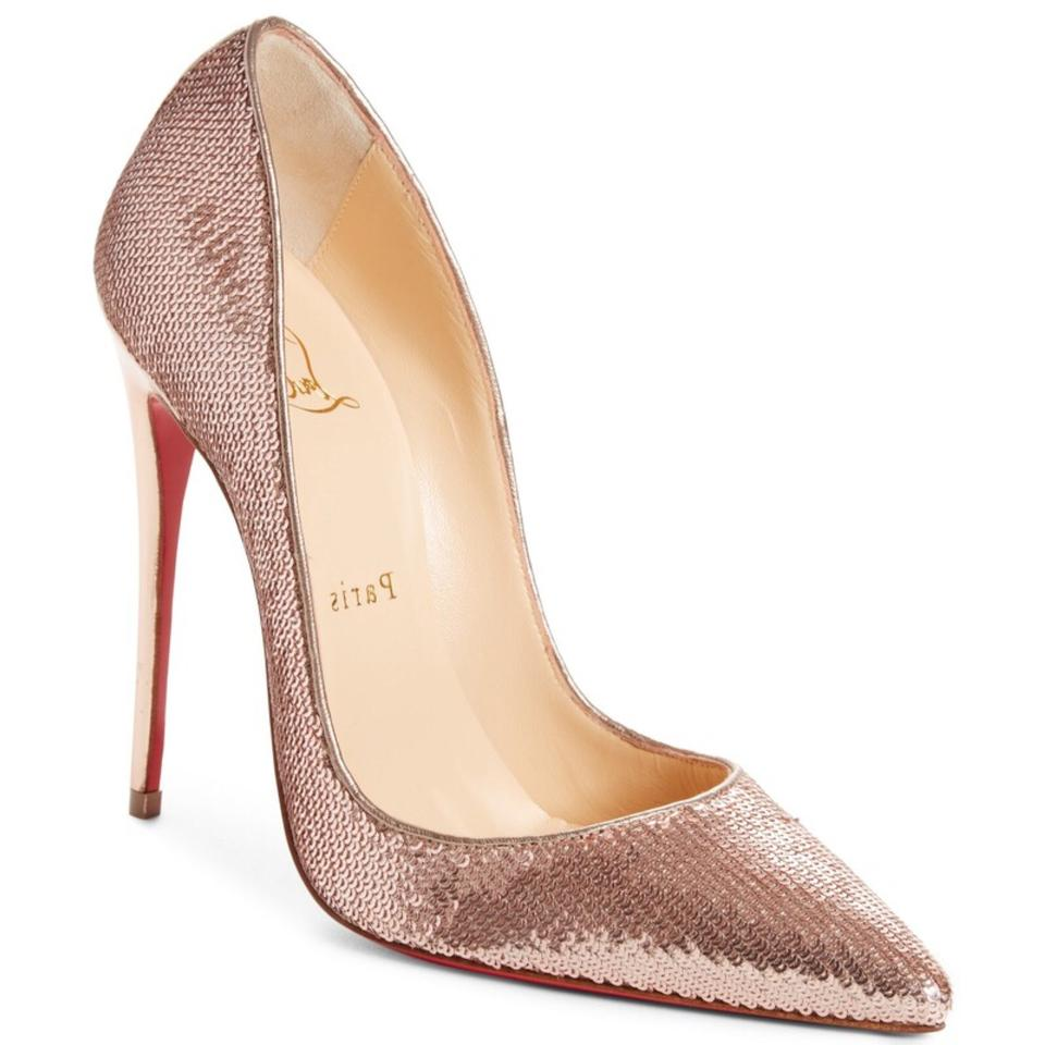 b84c1a0f750a Christian Louboutin So Kate Rose Gold Sequin Pointy Pumps Size EU 36 ...