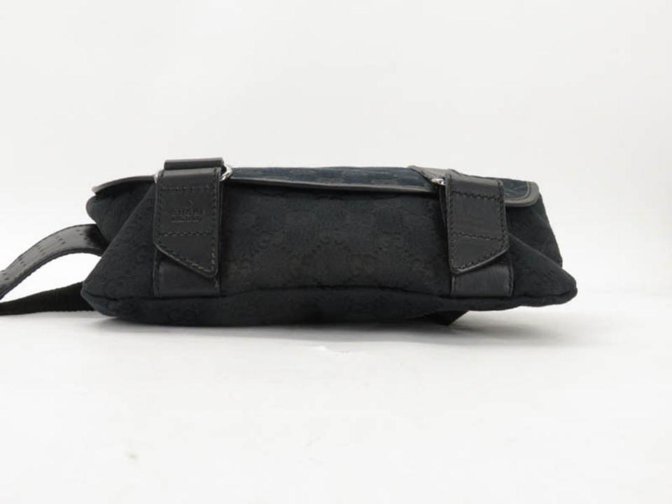 159cb7c8e Gucci Bum Monogram Gg Belt Pouch Waist Pack 867065 Black Coated ...