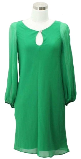 Item - Green A20 Designer Small 4 Mid-length Short Casual Dress Size 6 (S)