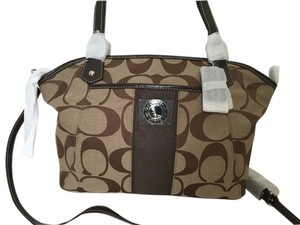 Coach Signature Handbag Tote in BROWN KHAKI MAHOGANY