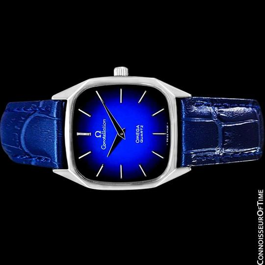 Omega 1977 Omega Constellation Mens Quartz Blue Dial Watch, Quick-Setting Ho