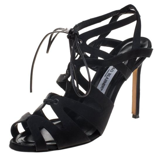 Preload https://img-static.tradesy.com/item/23578638/manolo-blahnik-black-satin-netochka-cage-lace-up-sandals-size-eu-38-approx-us-8-regular-m-b-0-0-540-540.jpg