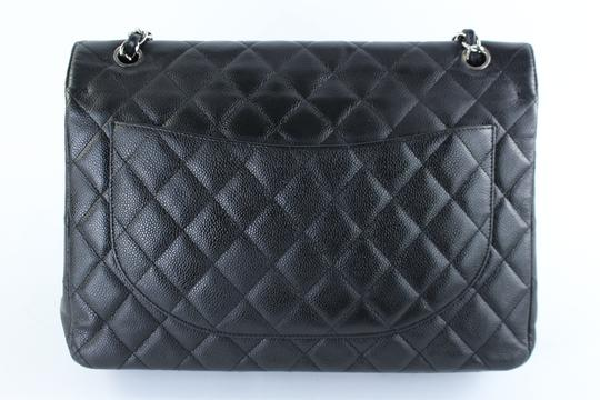 Chanel Maxi Jumbo Classic Single Flap Caviar Flap Cross Body Bag