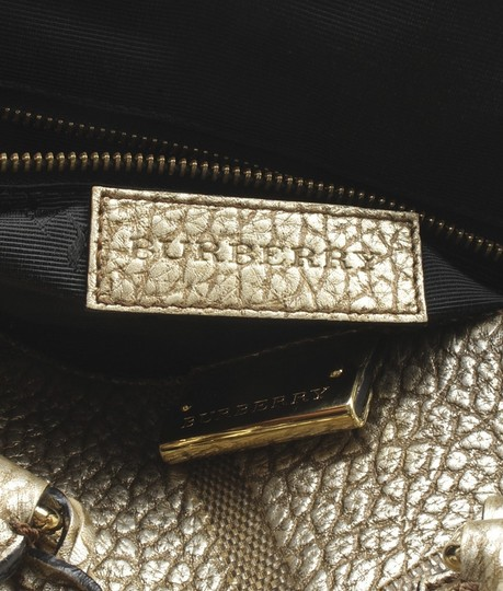 Burberry Leather Rose Satchel in Gold
