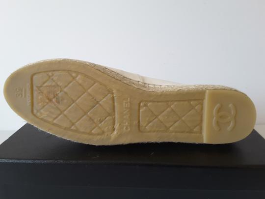 Chanel Espadrilles Leather White Flats